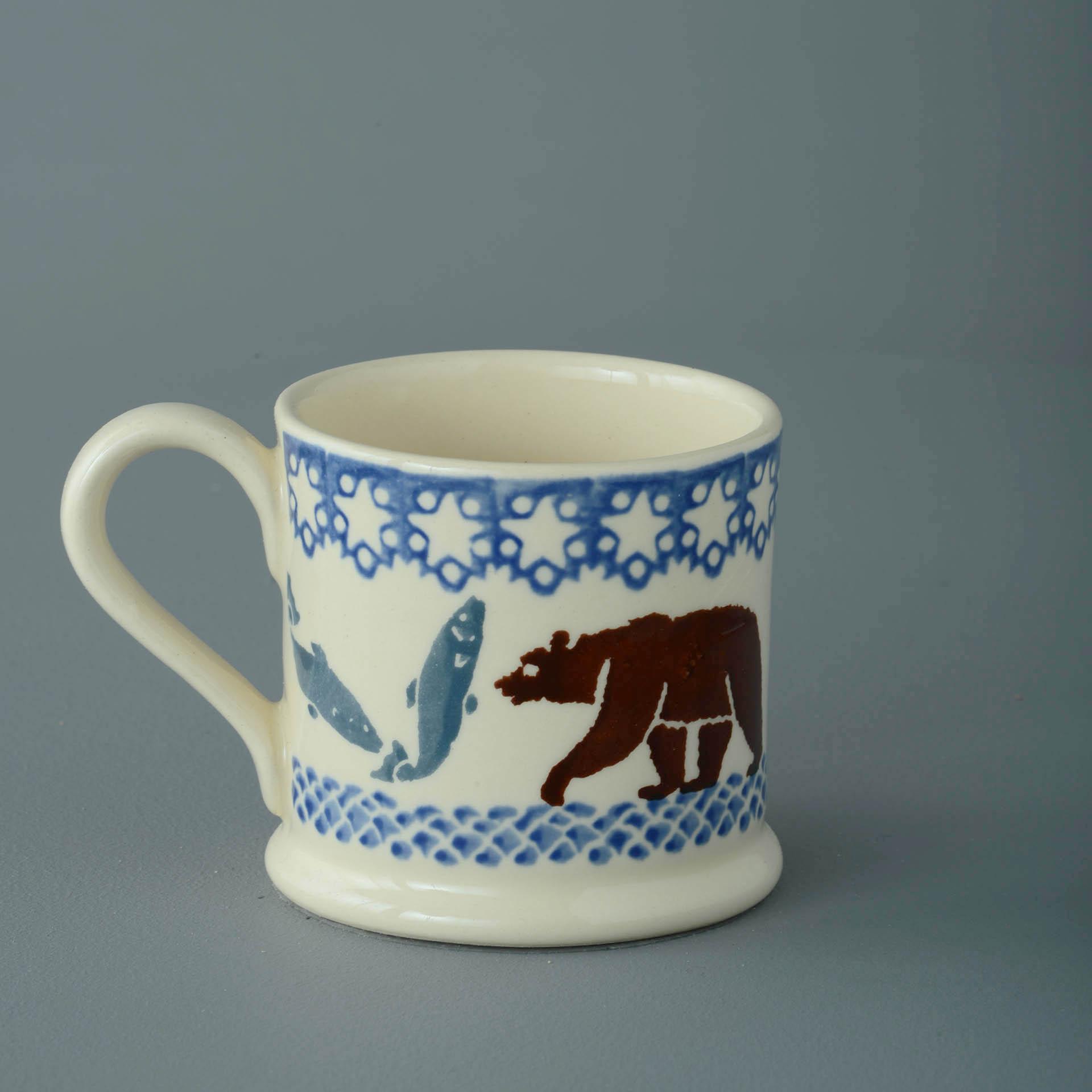 Bear and Fish 150ml Small Mug 7 x 7.3cm