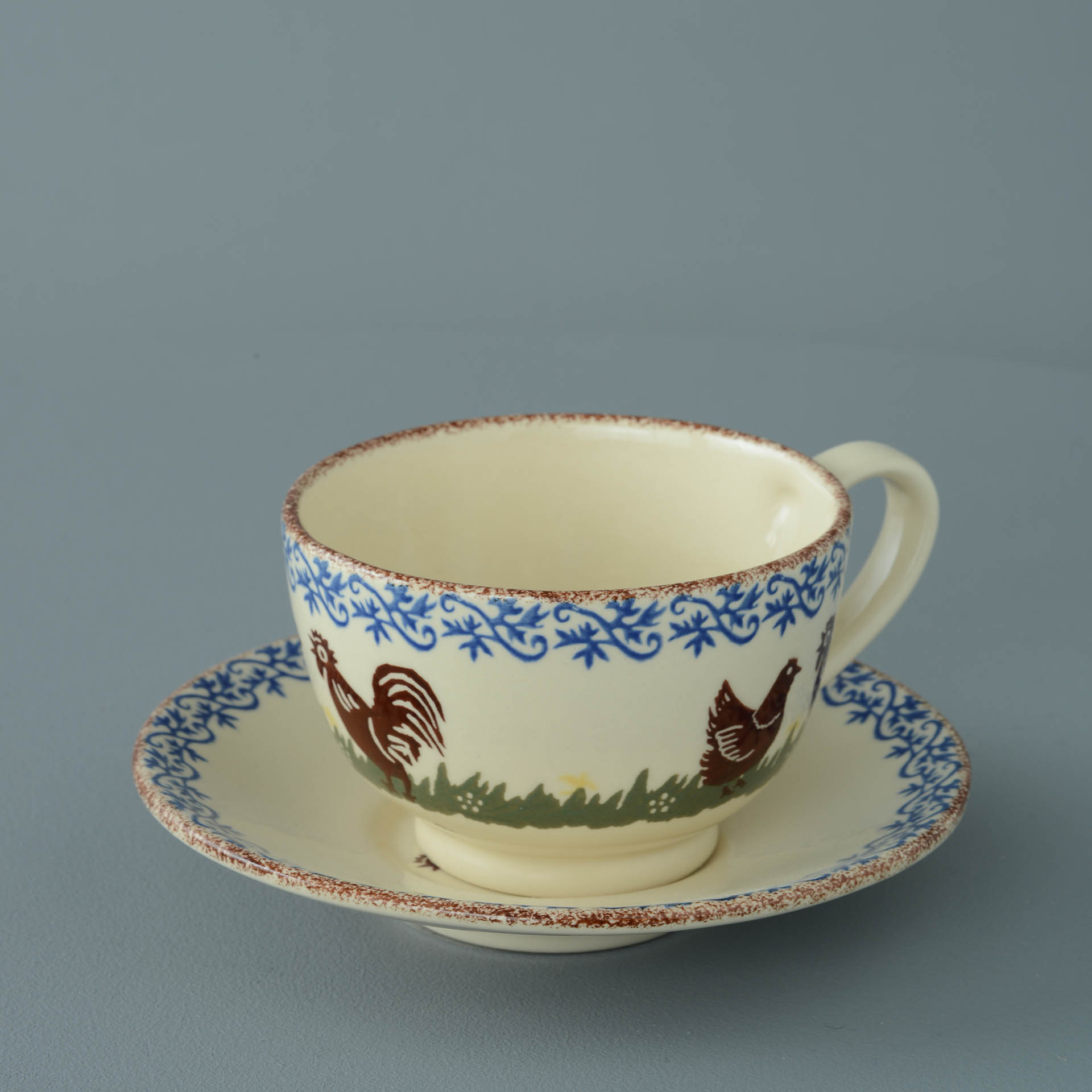 Cock & Hen Breakfast Cup and Saucer