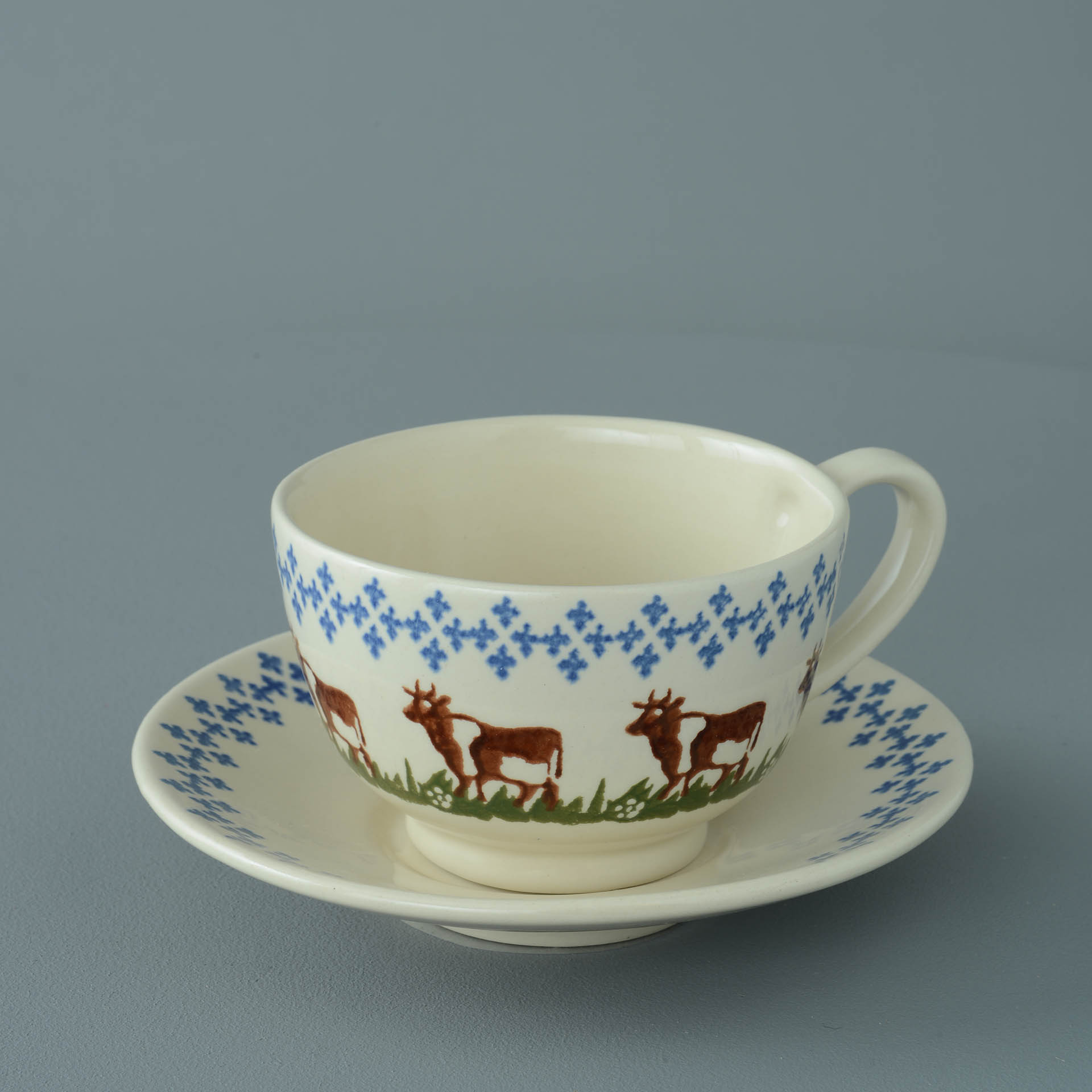 Cows Breakfast Cup and Saucer