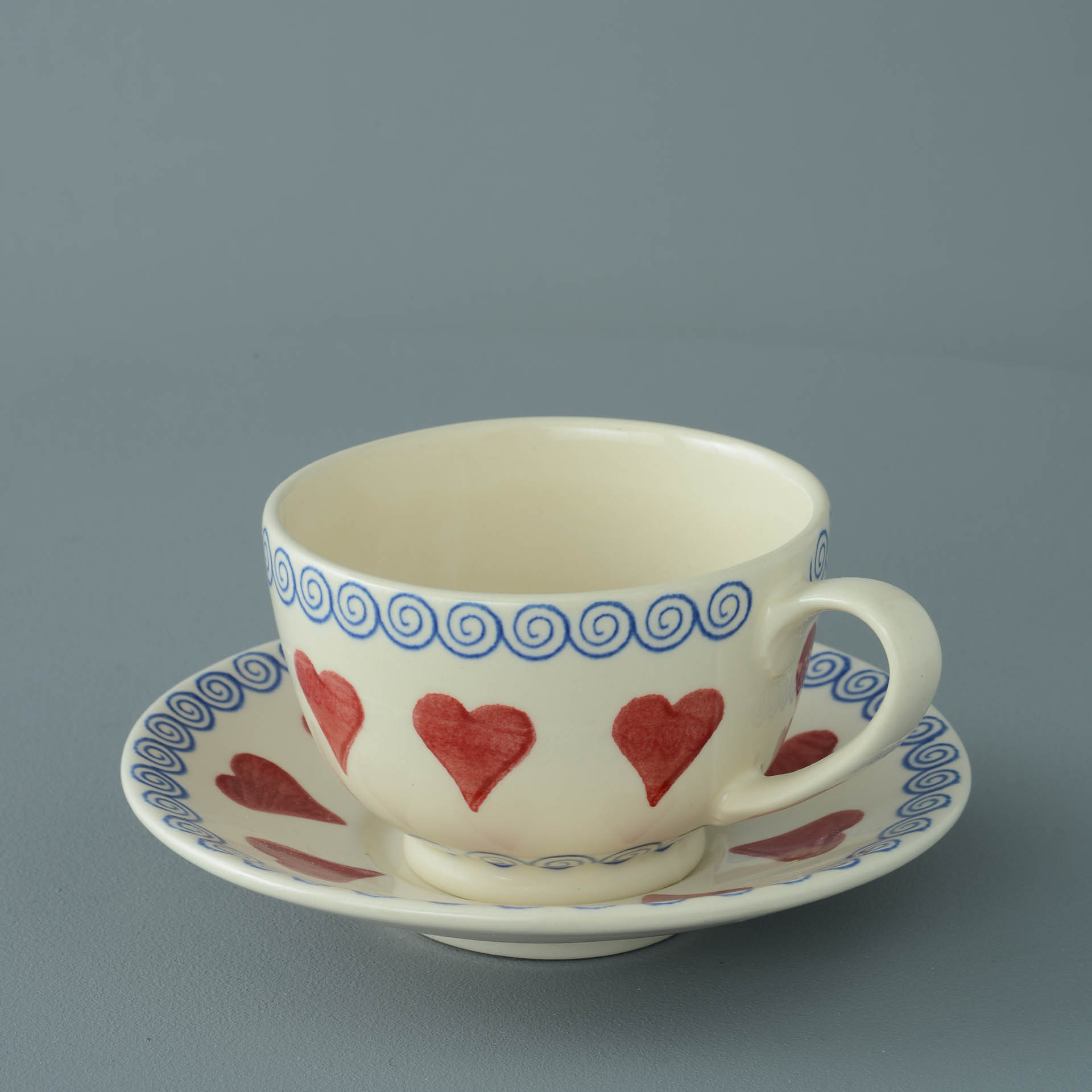Hearts Breakfast Cup and Saucer