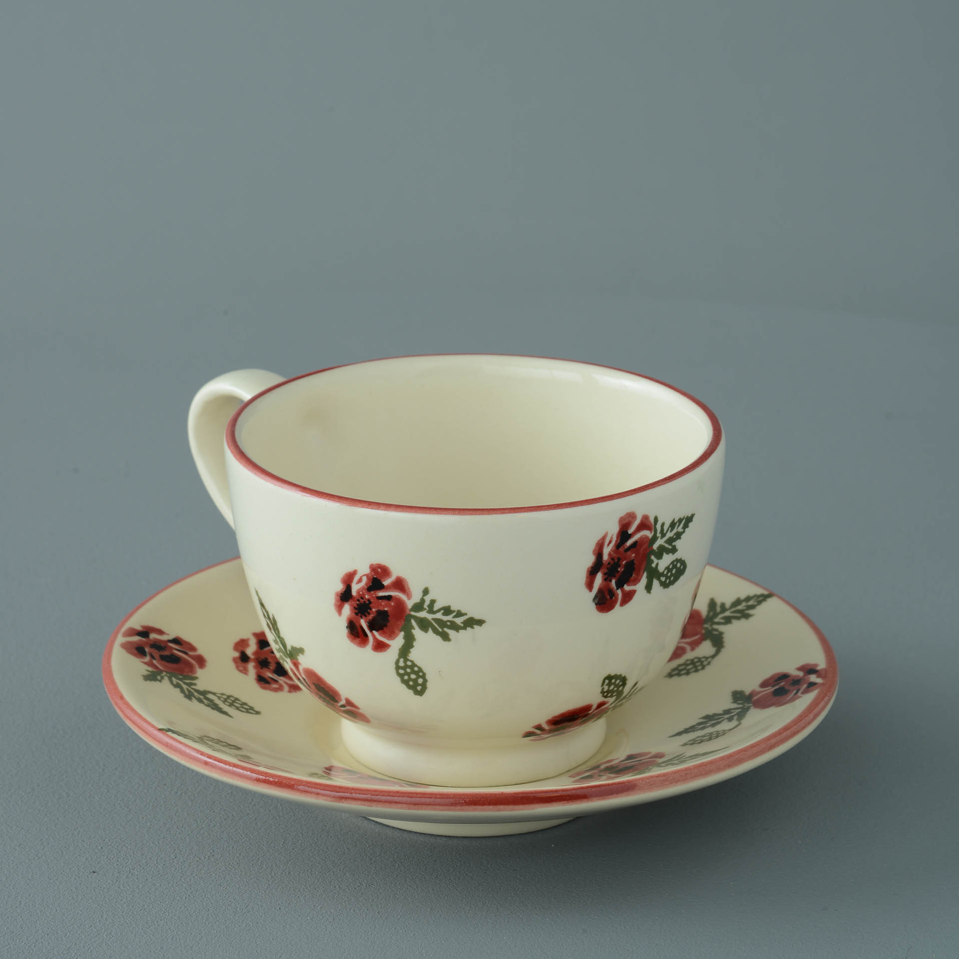 Poppies Breakfast Cup and Saucer