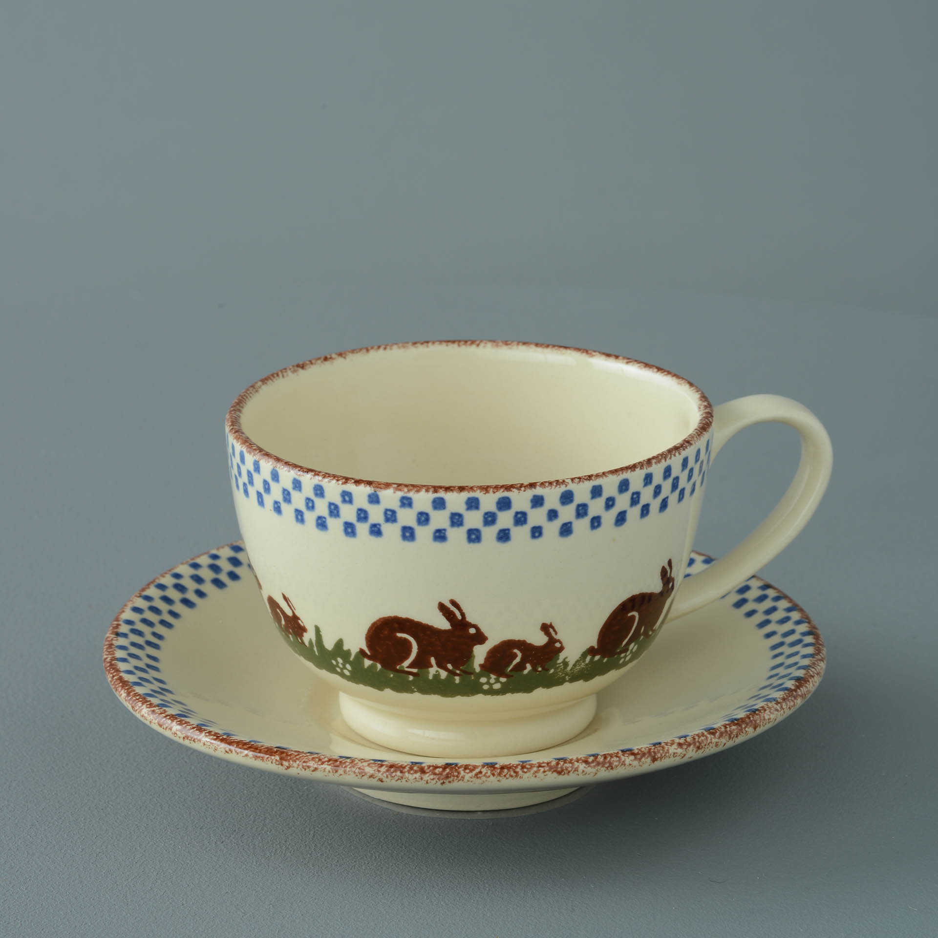 Rabbits Breakfast Cup and Saucer