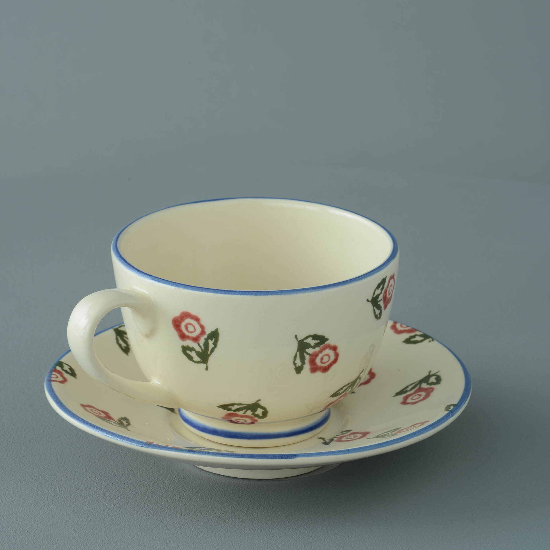 Scattered Rose Breakfast Cup and Saucer