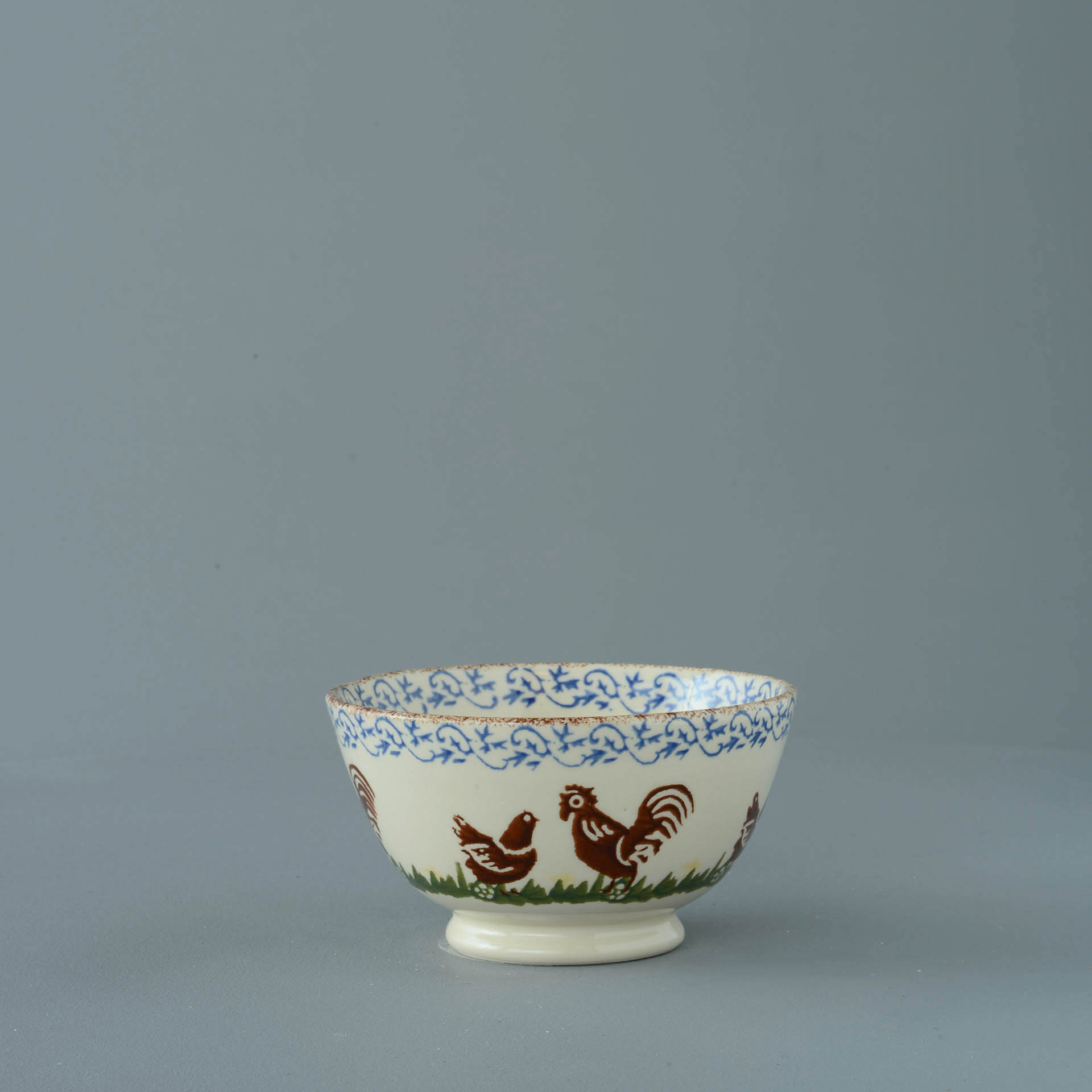 Cock & Hen Small Bowl 6.5 x 12 cm