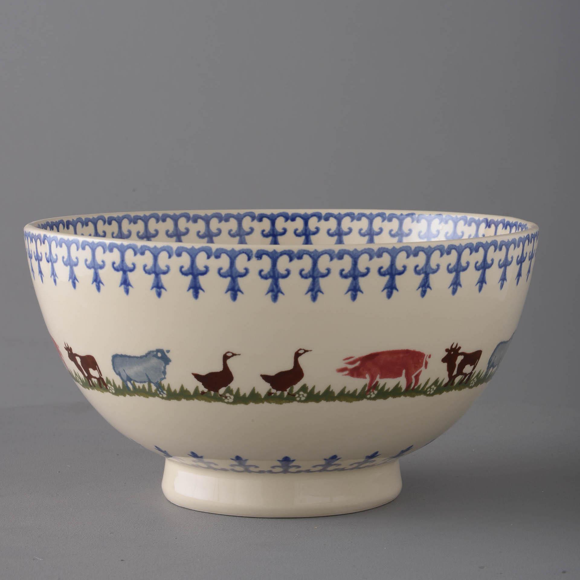 Farm Animals Serving Bowl 11 x 21.5cm