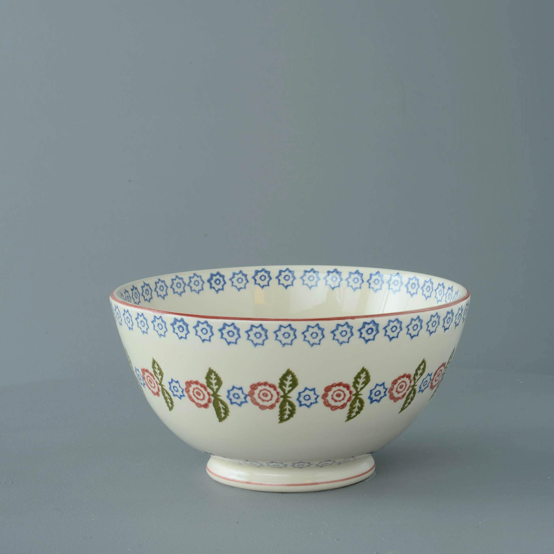 Victorian Floral Serving Bowl 11 x 21.5cm