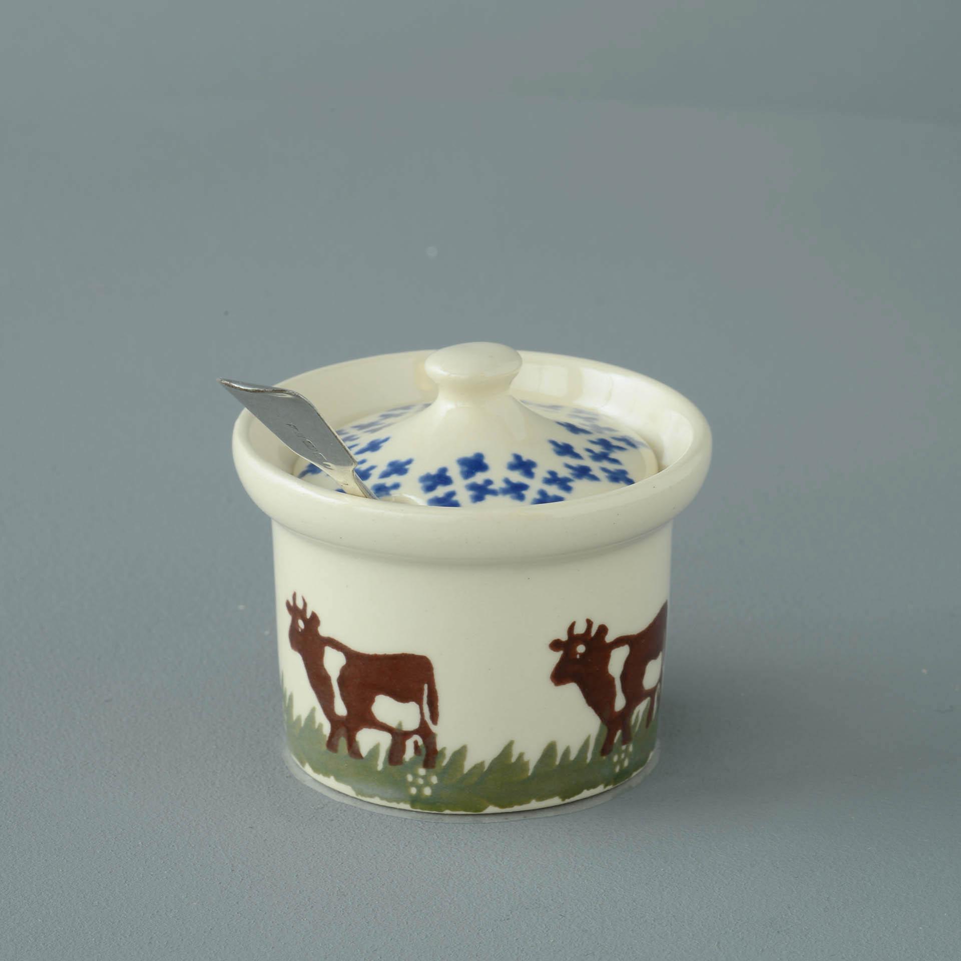 Cows Mustard Pot 7.8(w) x 5.4(h) cm