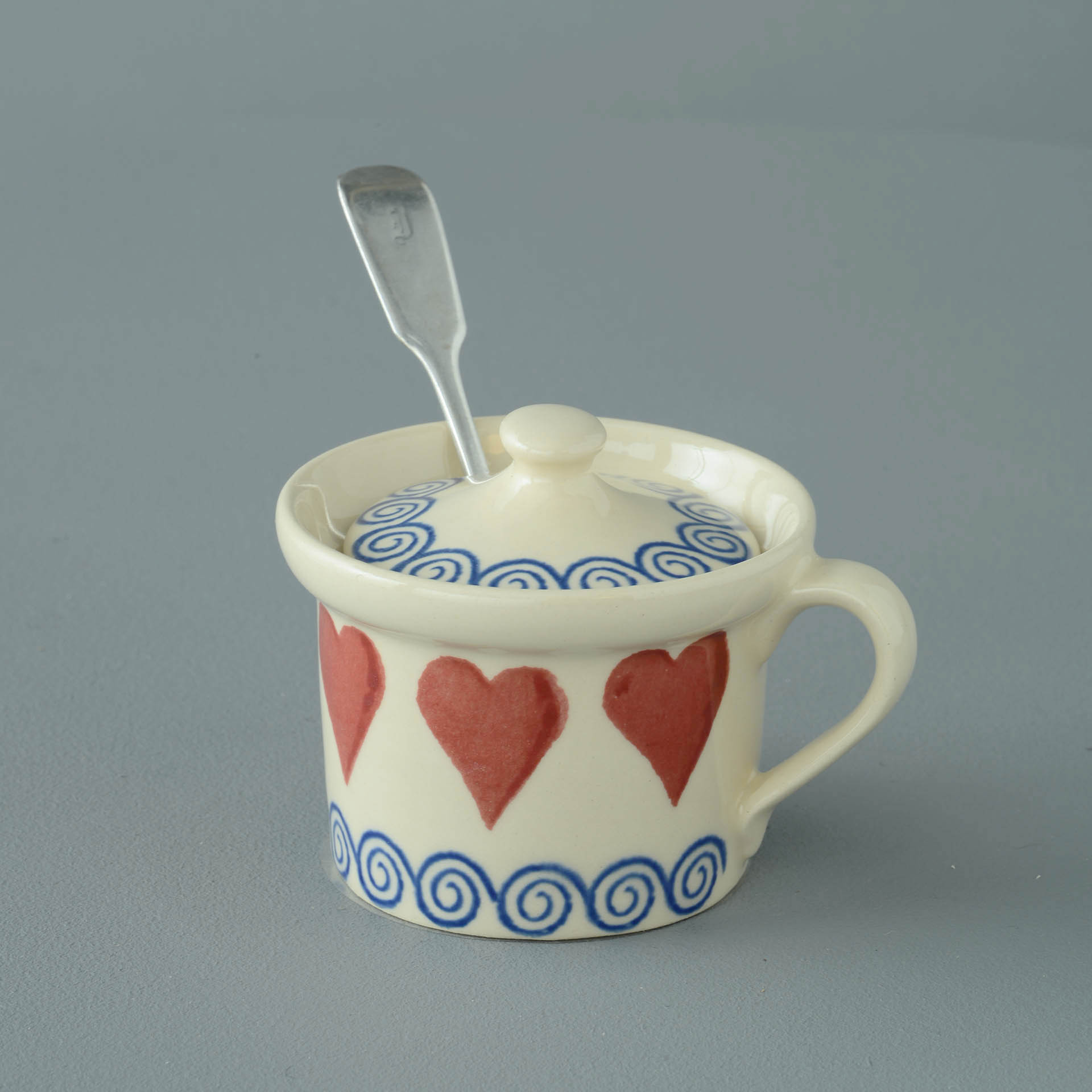 Hearts Mustard Pot 7.8(w) x 5.4(h) cm