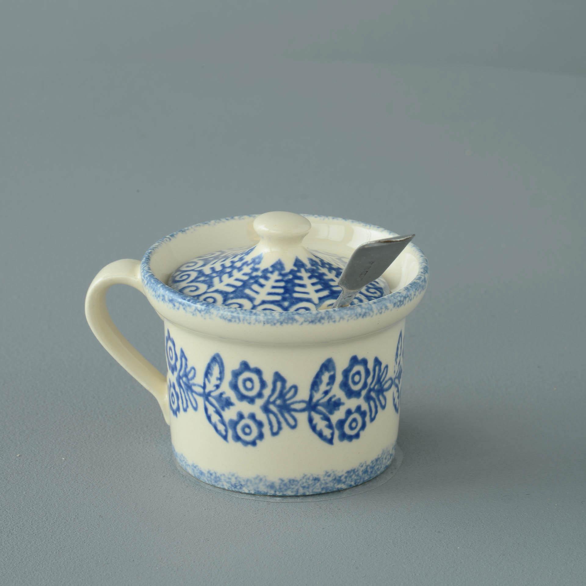 Lacey Blue Mustard Pot 7.8(w) x 5.4(h) cm