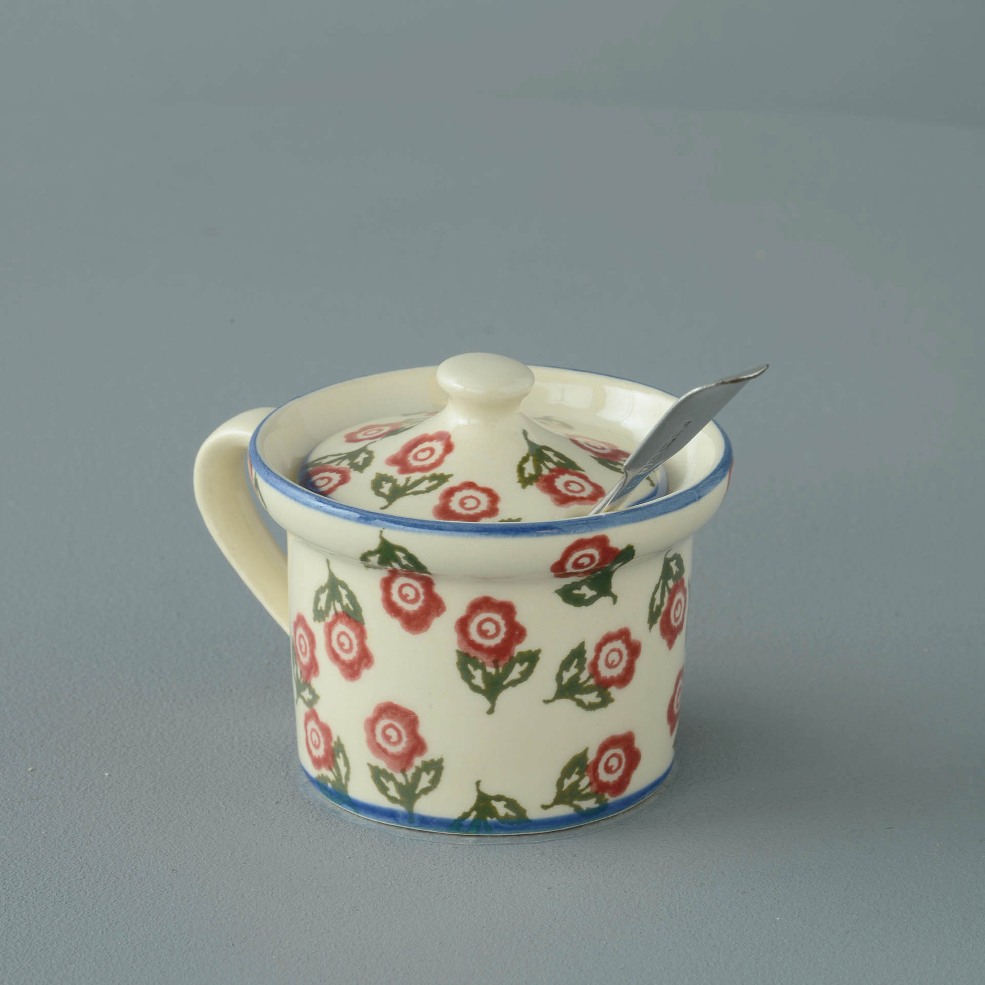 Scattered Rose Mustard Pot 7.8(w) x 5.4(h) cm