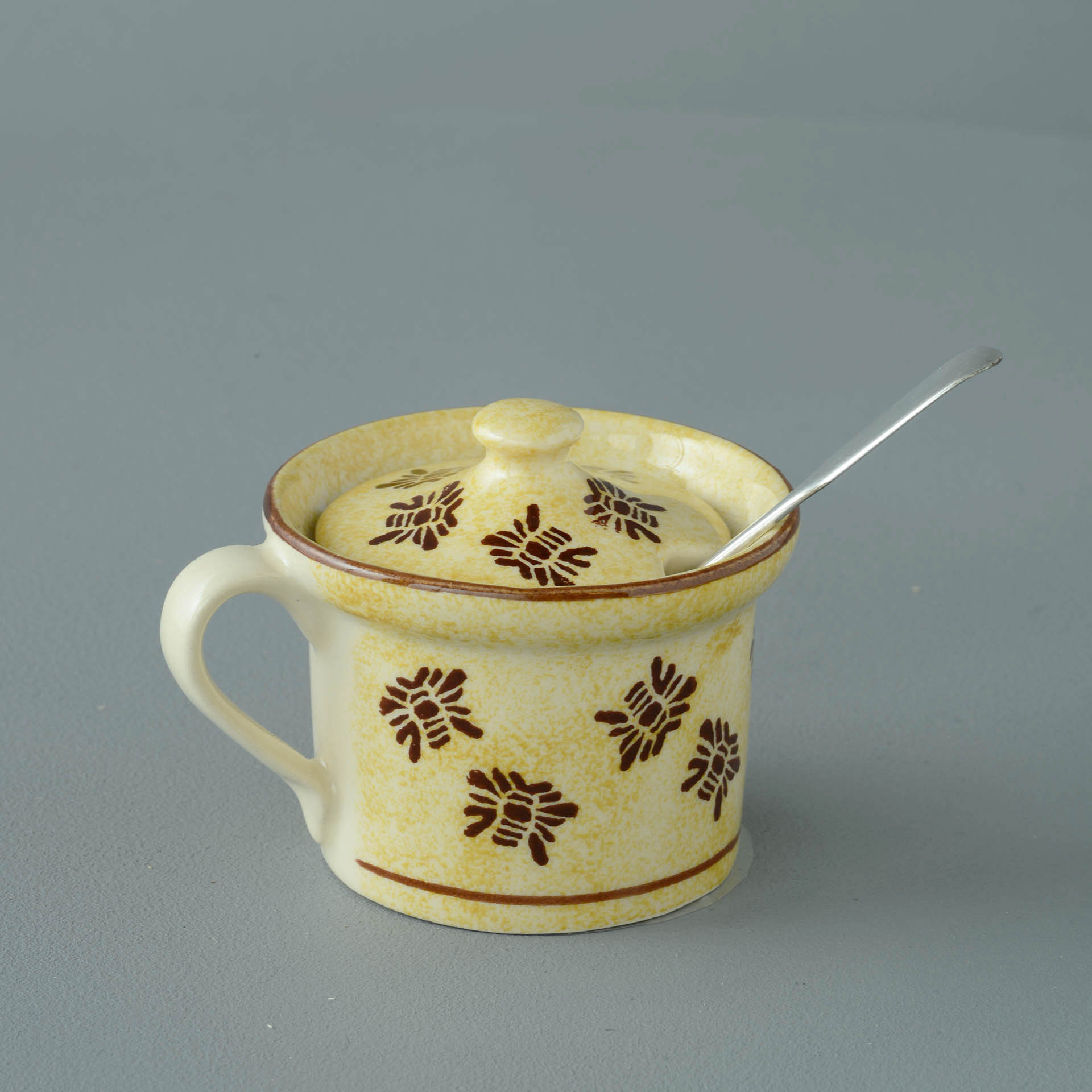 Bees Mustard Pot 7.8(w) x 5.4(h) cm