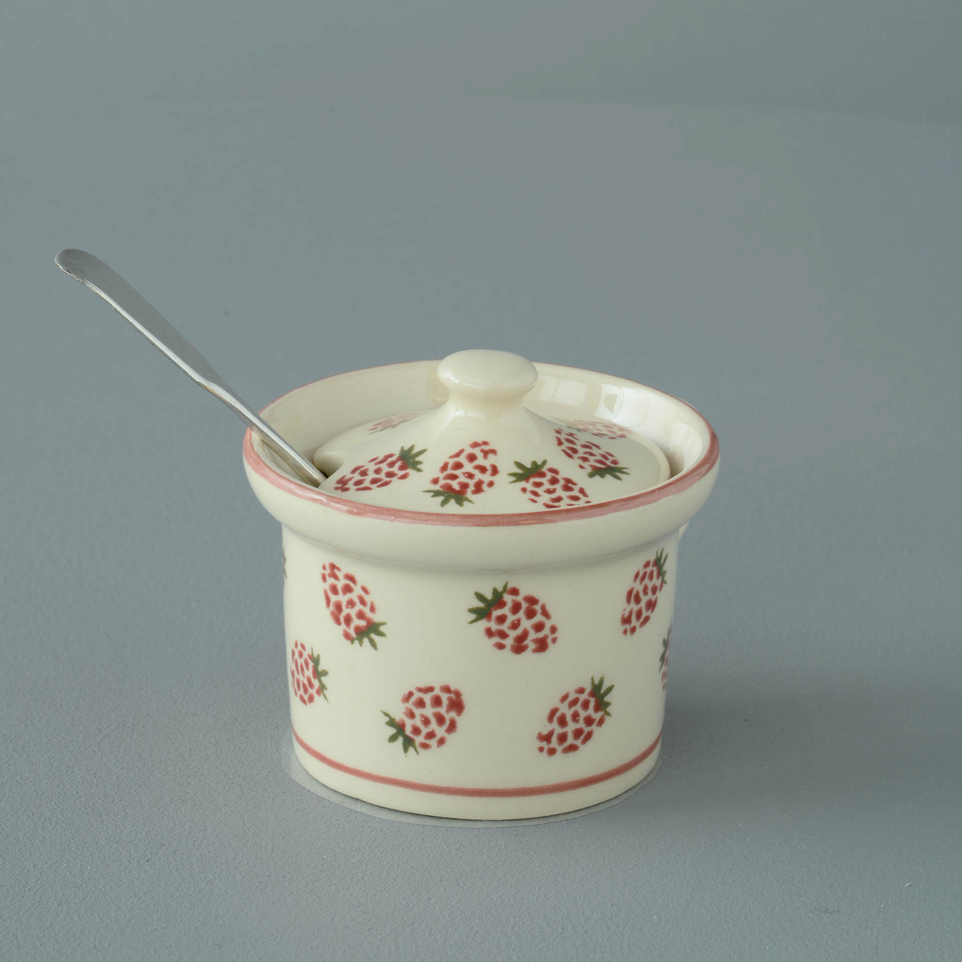 Raspberries Mustard Pot 7.8(w) x 5.4(h) cm