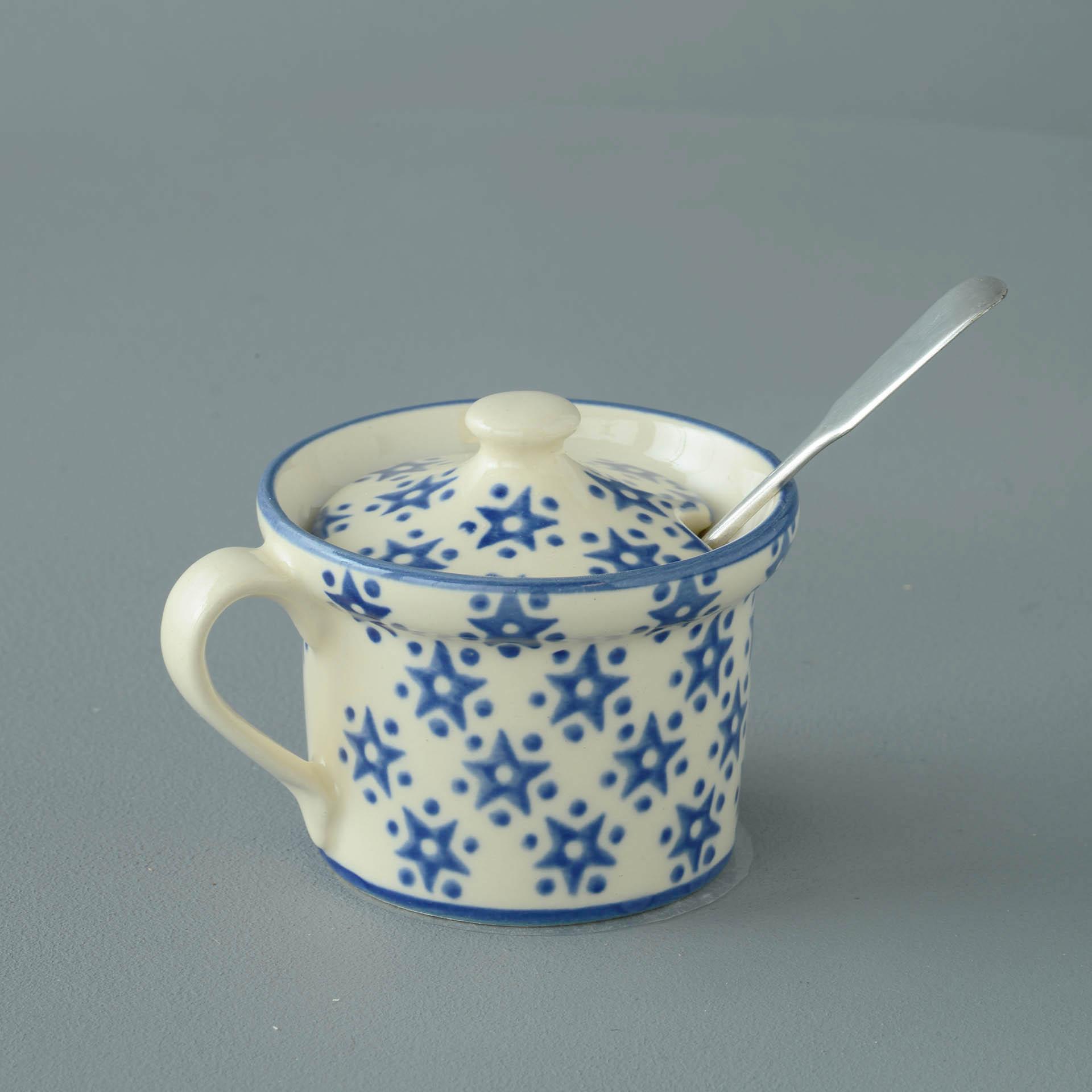 Snowflake Mustard Pot 7.8(w) x 5.4(h) cm