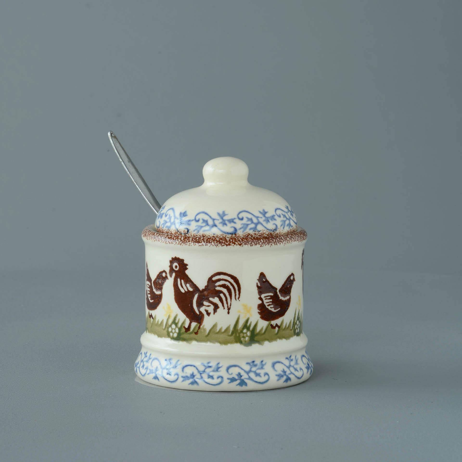 Cock & Hen Jam Pot 10 x 7.5cm