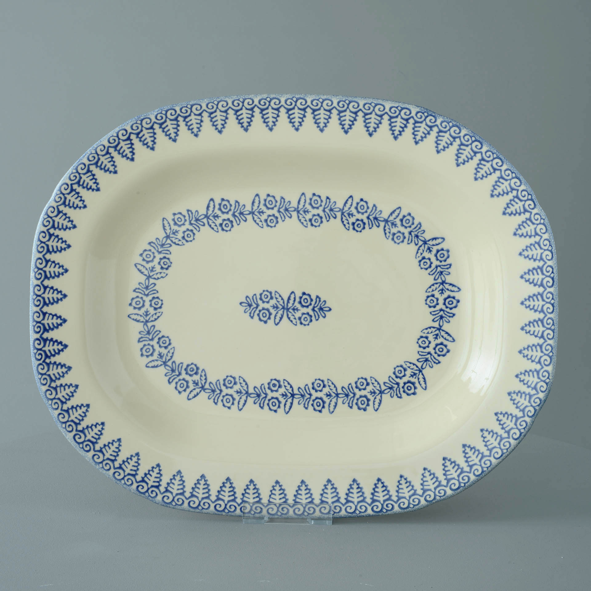 Lacey Blue Serving Plate Rectangular 45 x 35 x 4.5 cm