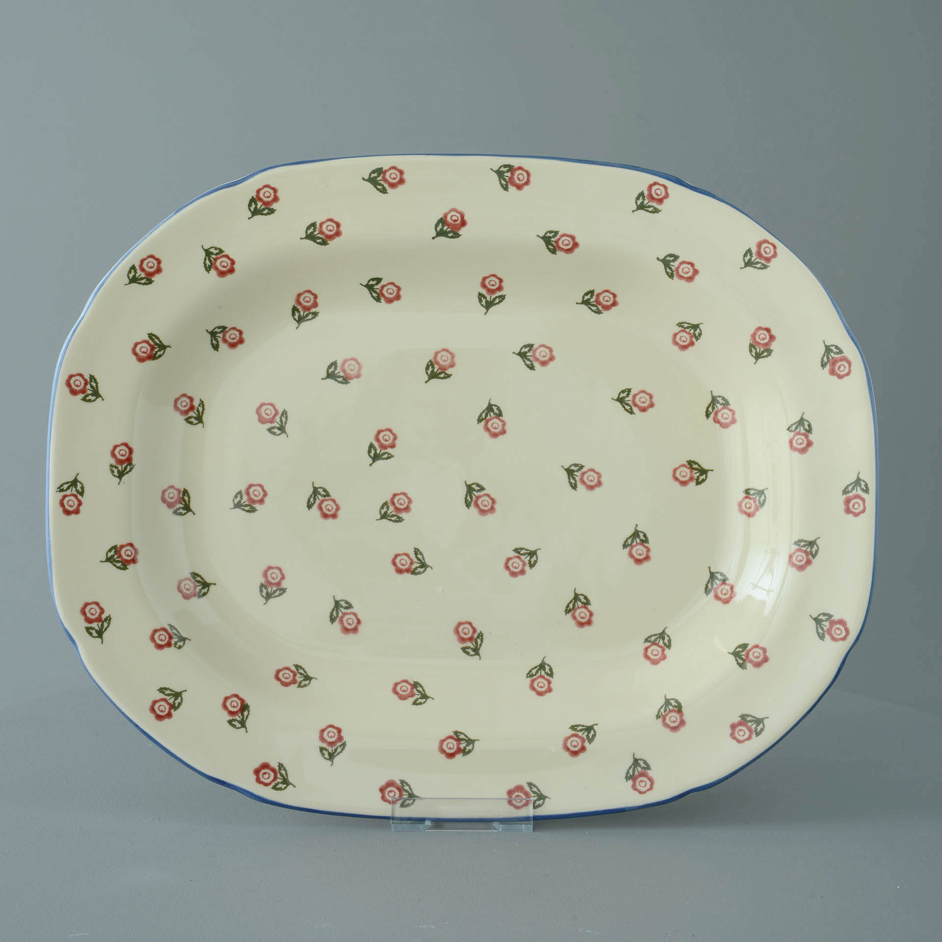 Scattered Rose Serving Plate Rectangular 45 x 35 x 4.5 cm
