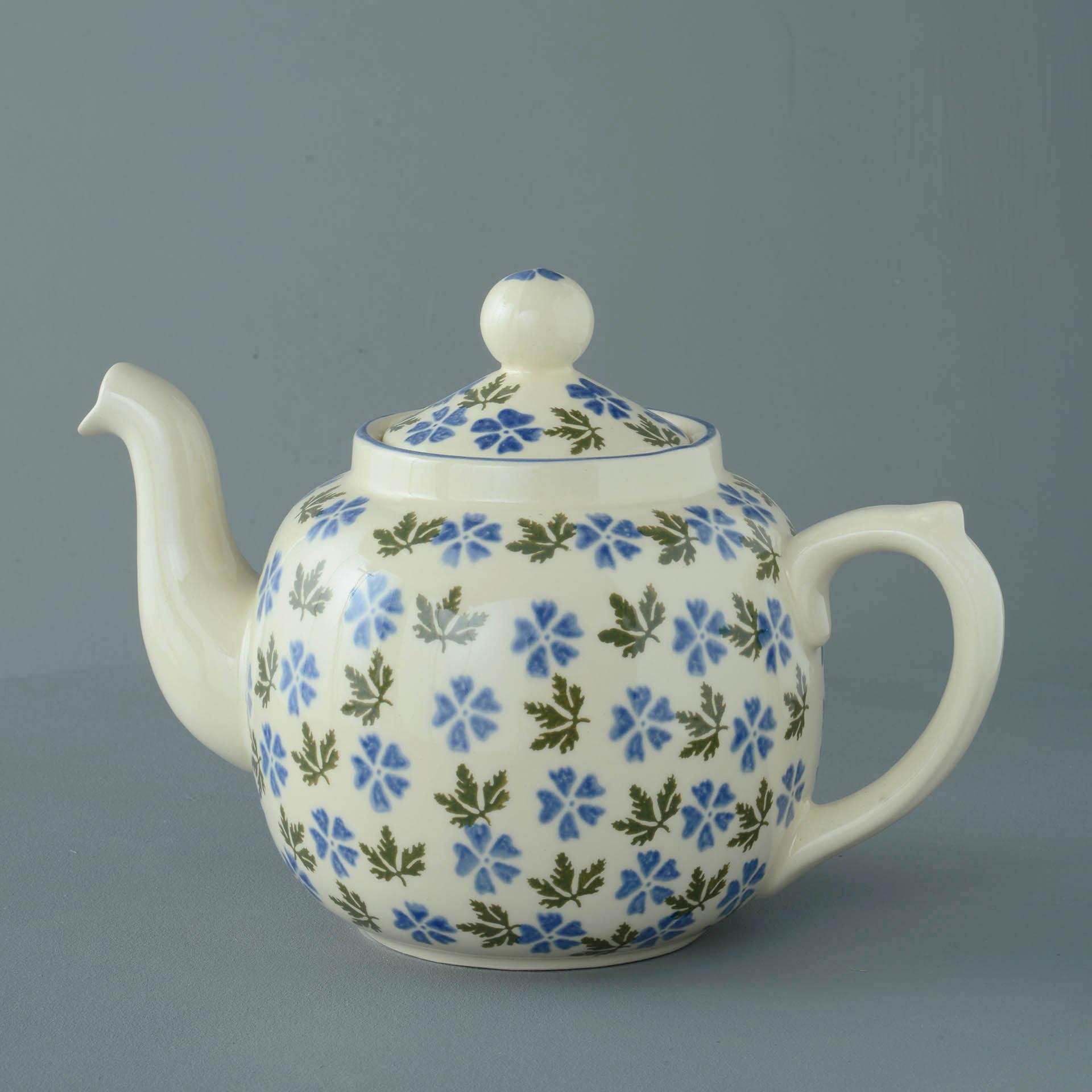 Teapot 10 Cup Geranium Brixton Pottery