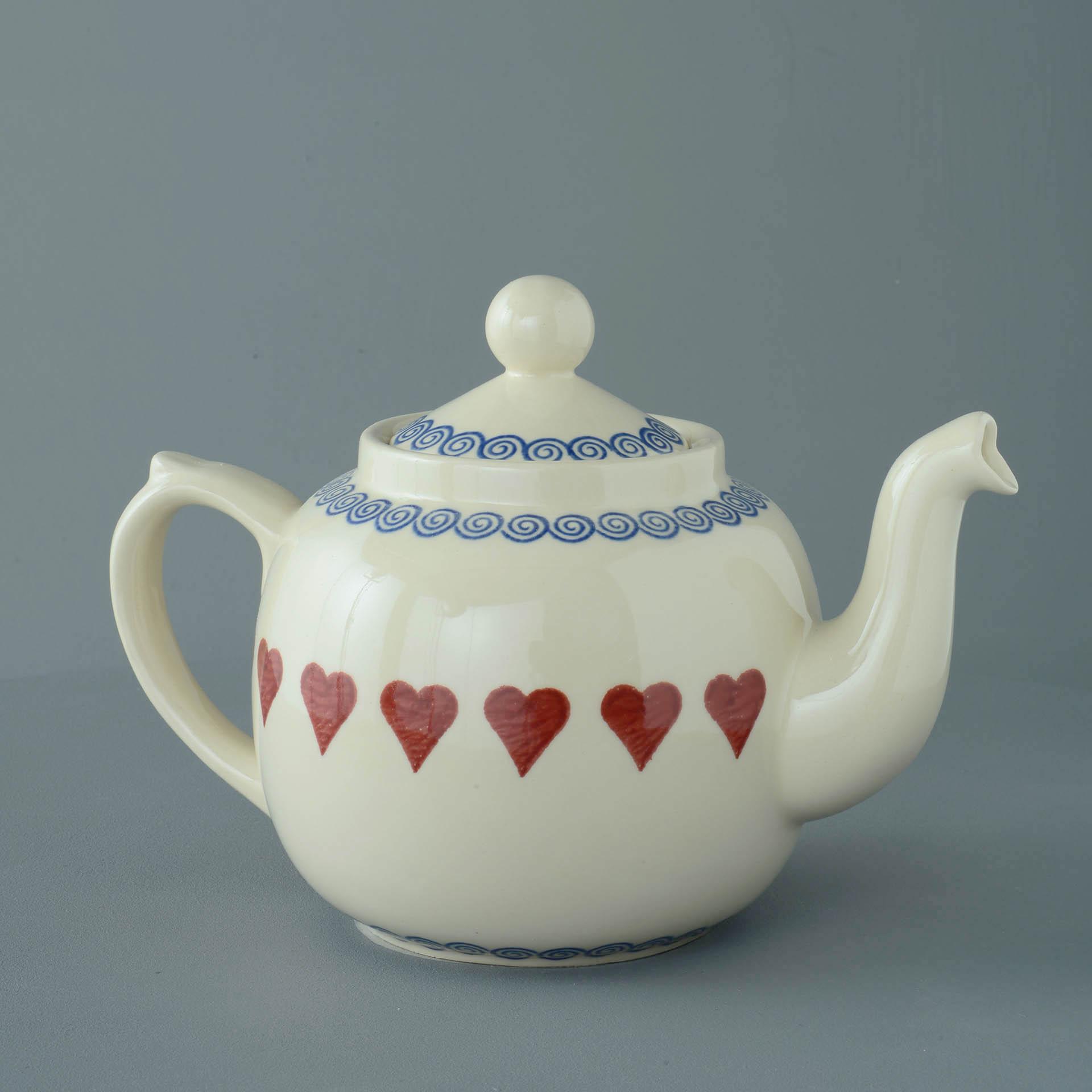 Teapot 10 Cup Heart Brixton Pottery