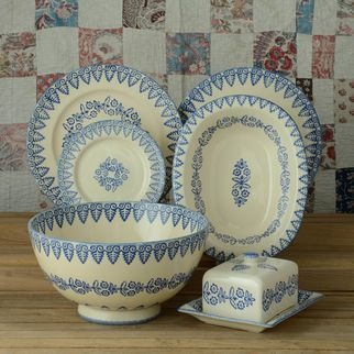 Brixton Pottery Lacey Blue