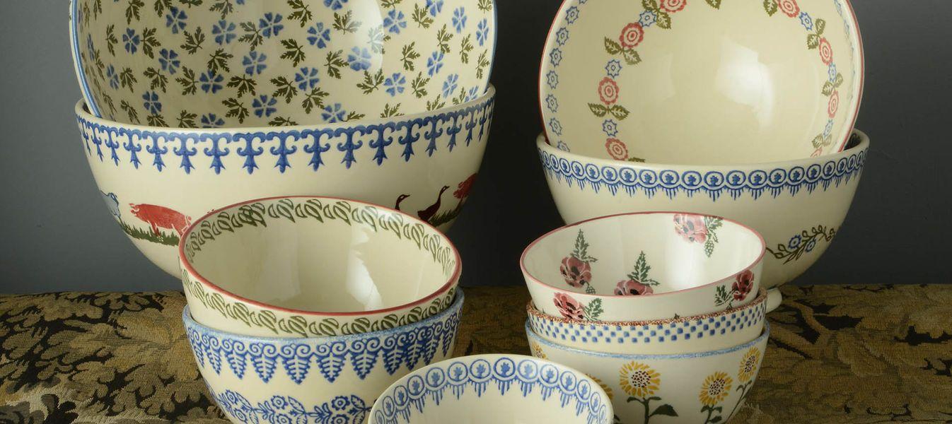 Brixton Pottery Spongeware Bowls