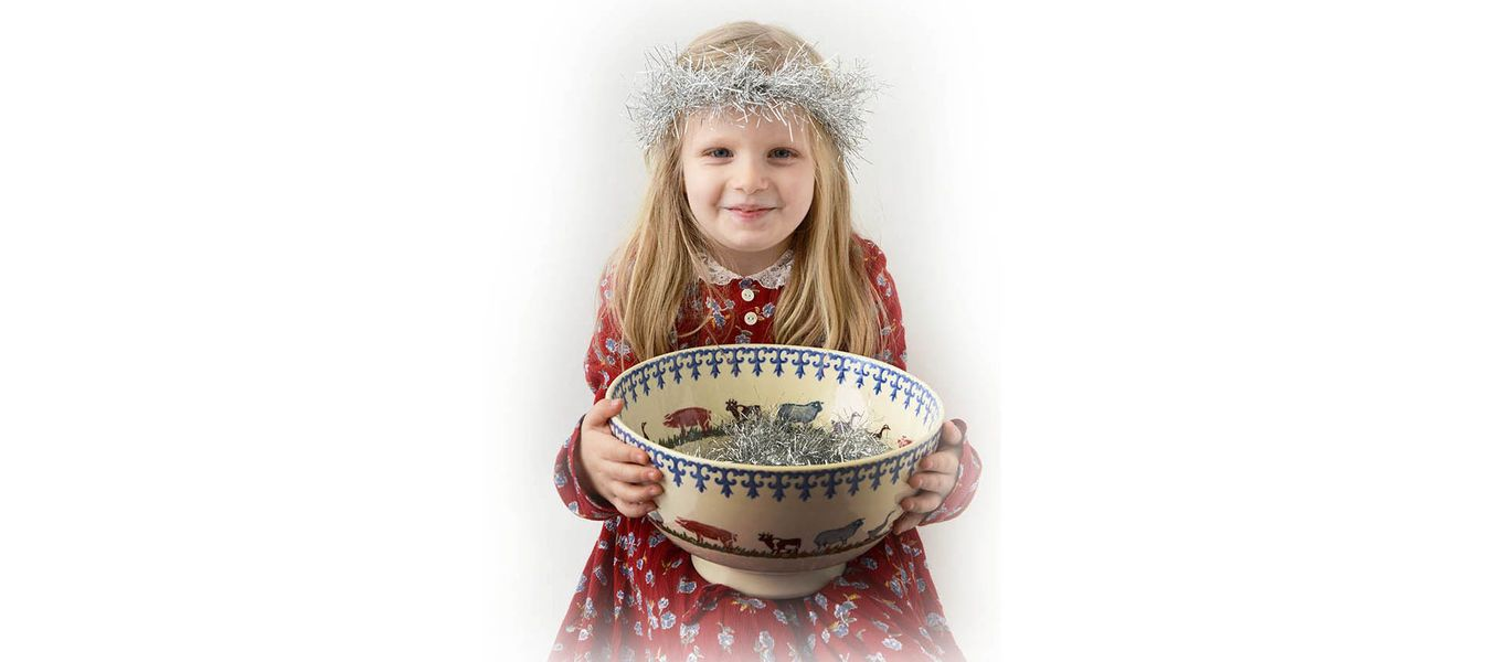 The salad bowl in a festive mood