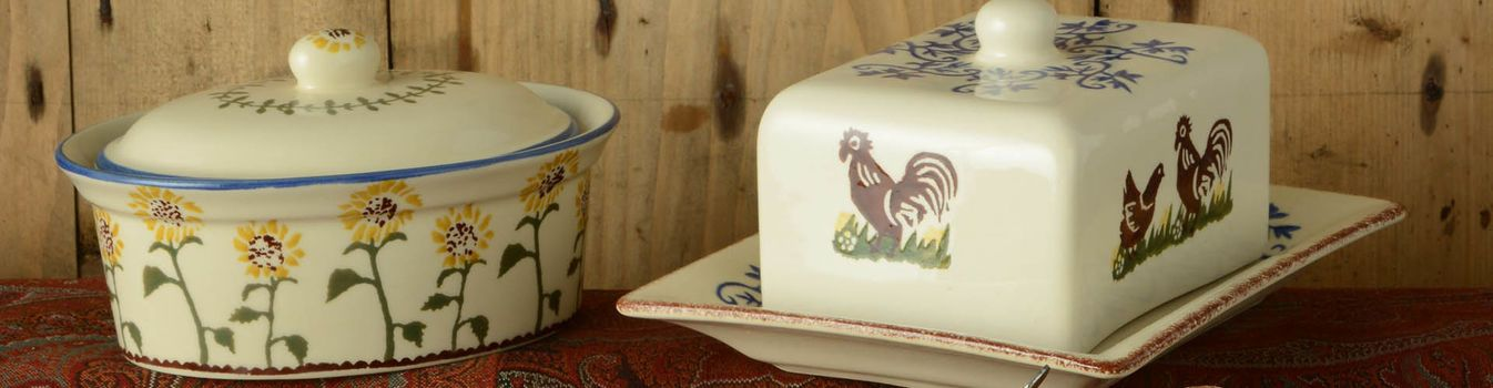 Brixton Pottery Butter Dish and Cheese Dish