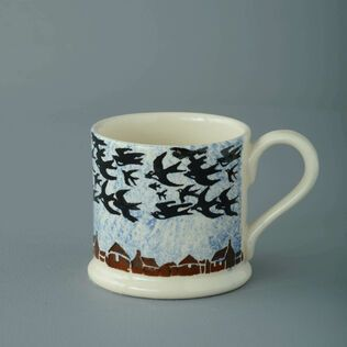 Mug Small Bird Swallows at dusk