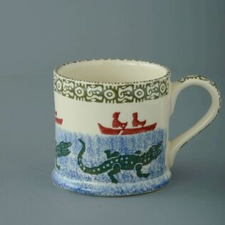 Mug Large Alligator and Boat