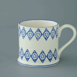 Mug Large Blue Diamond