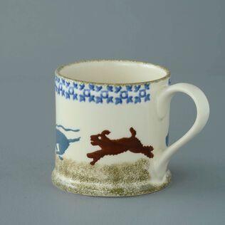 Mug Large Dog Scottie Chasing