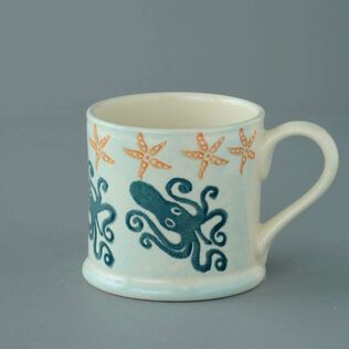 Mug Large Squid and starfish