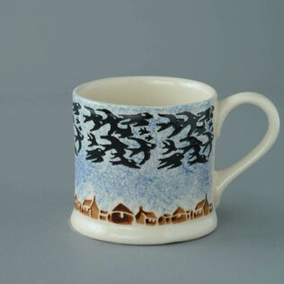 Mug Large Bird Swallows at dusk