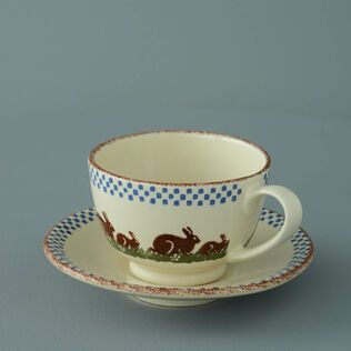 Cup & Saucer Breakfast Size Rabbit