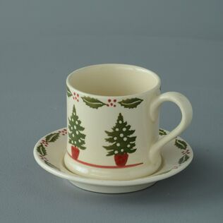 Mug & Saucer Small Christmas Tree