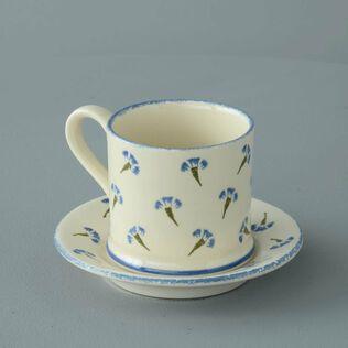 Mug & Saucer Small Cornflower