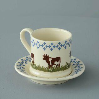 Mug & Saucer Small Cow