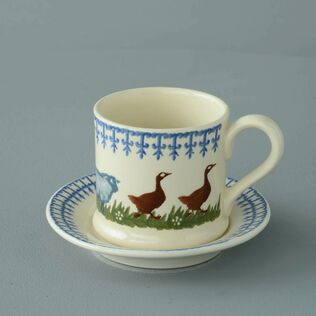Mug & Saucer Small Farm Animal