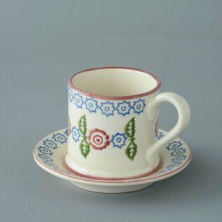 Mug & Saucer Small Victorian Floral