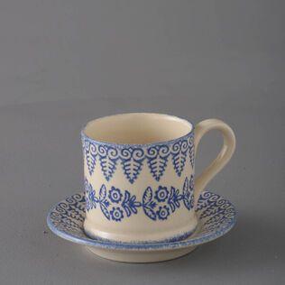 Mug & Saucer Small Lacey Blue