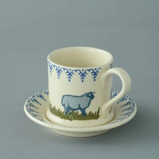 Mug & Saucer Small Sheep