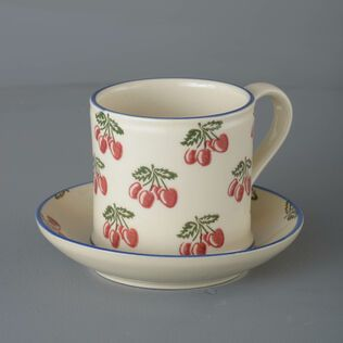 Mug & Saucer Large Cherry
