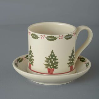 Snack Saucer & Mug Large Christmas Tree