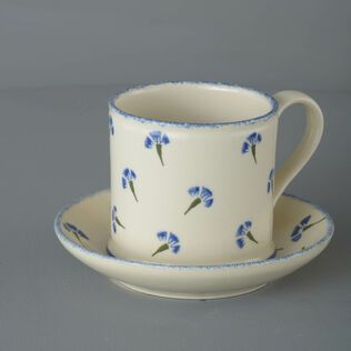 Snack Saucer & Mug Large Cornflower