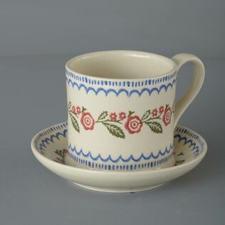 Snack Saucer & Mug Large Creeping Briar