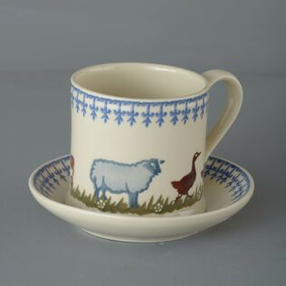 Snack Saucer & Mug Large Farm Animal