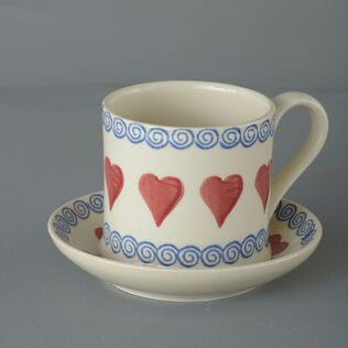 Snack Saucer & Mug Large Heart