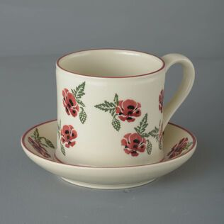 Snack Saucer & Mug Large Poppy