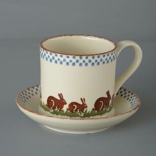 Snack Saucer & Mug Large Rabbit