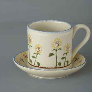 Snack Saucer & Mug Large Sunflower
