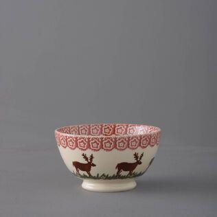 Bowl Cereal Size Reindeer